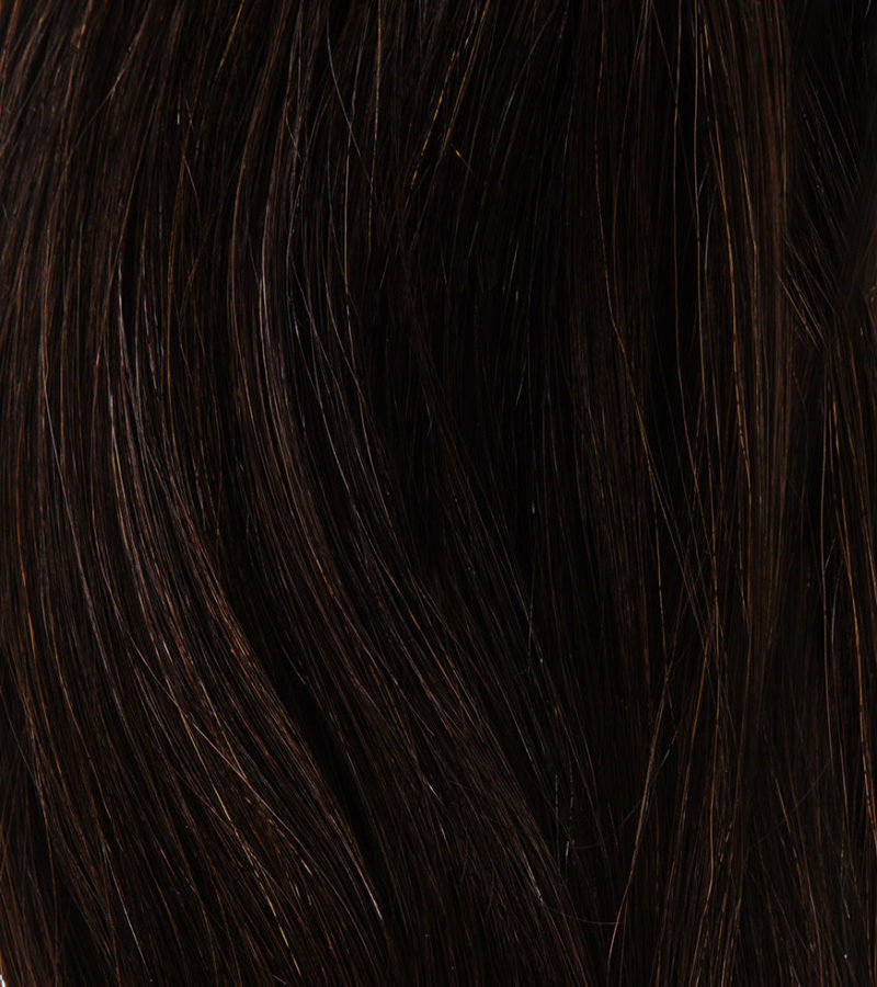 Off Black Clip In Hair Extensions Kudu Hair Close Up